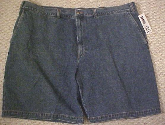 St. John's Bay Denim Jeans Walking Golf Shorts Blue Size 46 Big Tall Mens Clothing 702911