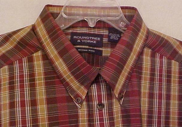 Roundtree & Yorke Button Down Long Sleeve Wrinkle Free Shirt 4X  4XL Big & Tall Mens Clothing 702951