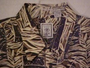 Silk Button Down Shirt Short Sleeve Silk Size 2XLT 2XT Big Tall Mens Clothing 803241