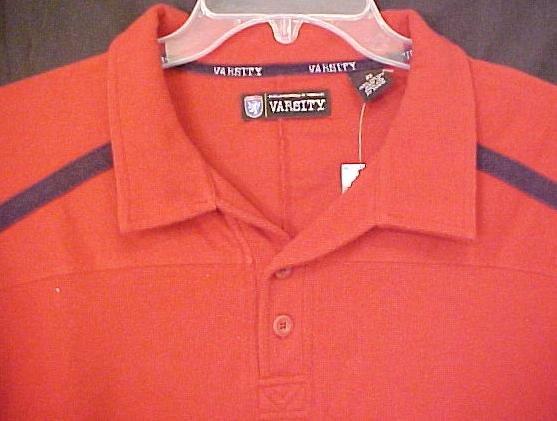 Varsity Polo Shirt Pull Over Golf Collar Size 2X 2XL Big Tall Men's Clothing 803471
