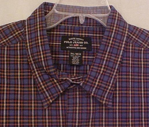 New Ralph Lauren Polo Jeans Button Front Long Sleeve Shirt 3XT 3XLT Big Tall Mens Clothing 905421-2