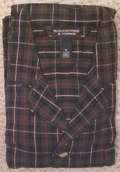 New Long Sleeve Button Down Flannel Pajama's PJ's Size 3X 3XL Big Tall Mens Clothing 111281