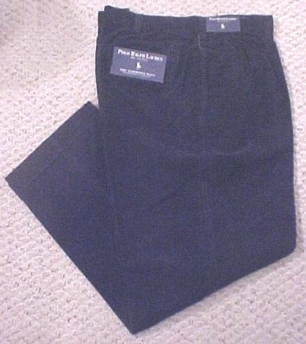 New Ralph Lauren Hammond Navy Corduroy Pants 54 X 32 Big Tall Mens Clothing 904611