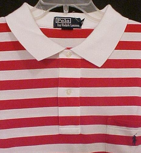 Ralph Lauren POLO Shirt Red White Pocket 2X 2XL Big Tall Men's Clothing 32281