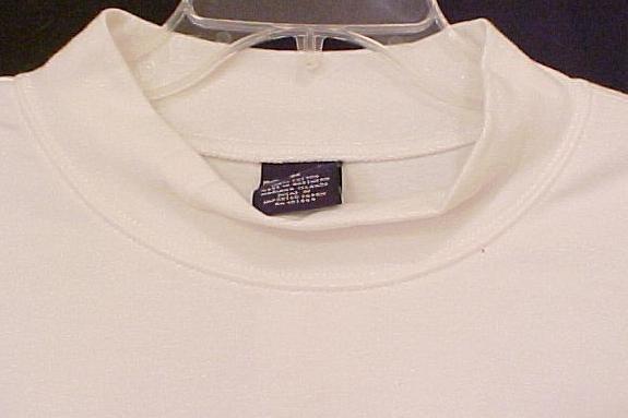New White Mock Neck Pull Over Shirt 3XLT 3XT Big Tall Men's Clothing 107511