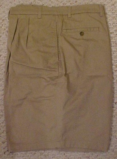 New Tan Pleated Front Relaxed Fit Shorts Golf Shorts Size 46 Big Tall Mens Clothing 43311-2