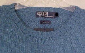 NEW Polo by Ralph Lauren Long Sleeve Blue Sweater Size 2XT 2XLT Big Tall Mens Clothing 906681