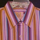 New Purple Stripe Long Sleeve Shirt Size 2XL 2X XXL Big Tall Mens Clothing 904631