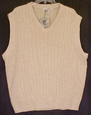 Tan Pull OVer V Neck Sweater Vest GOLF Size 48 Big Tall Mens ...