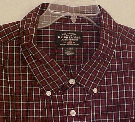 NEW Ralph Lauren Polo Jeans Button Down Shirt Long Sleeve 3XLT 3XT Big Tall Mens Clothing 107011-2