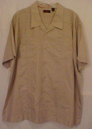 Cuban Guayabera Mexican Wedding Shirt Size 3XL 3X Big Tall Men's Clothing 63011-2
