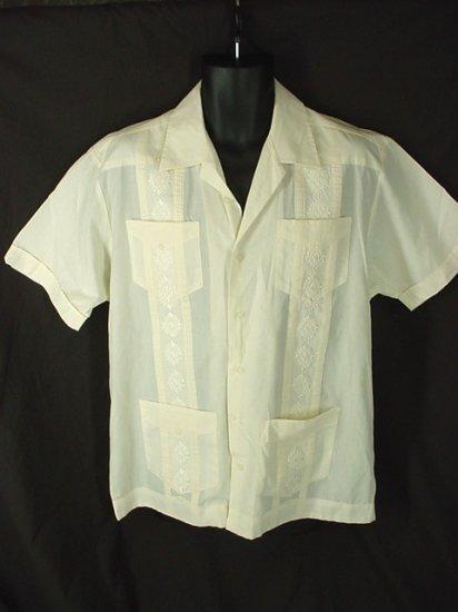 Cuban Guayabera Mexican Wedding Shirt Embroidered Size 3XLT 3XT Big Tall Men's Clothing 63071