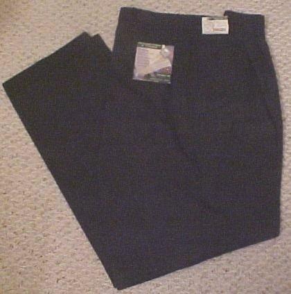 New Khakis Pleat Cuff Black Size 48 X 34 Big Tall Men Clothing 810631
