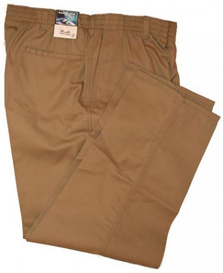 Khaki Elastic Pant Pants 7X Big & Tall Mens Clothing 1202
