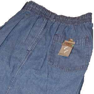 Elastic Waist Denim Pant Jeans Size 40 TALL Unhemmed Big & Tall Mens Clothing 40T