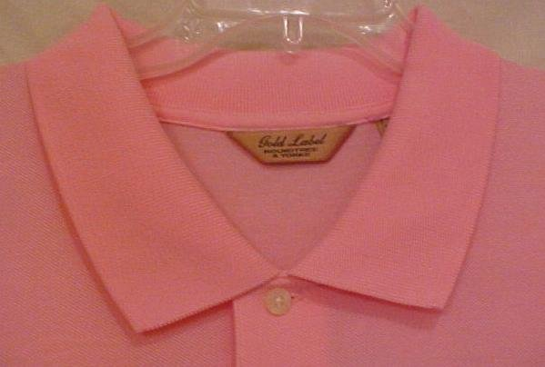 NEW Pink Polo Golf Shirt S/S 3XLT 3XT Roundtree & Yorke Gold Label Big Tall Men's Clothing 913341
