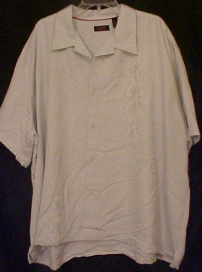 Cuban Guayabera Mexican Wedding Shirt S/S Size 3X 3XL Big Mens 914351
