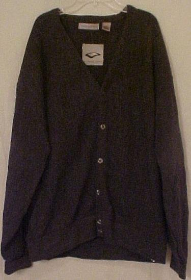 Big Mens Clothing Sweater Button Down L/S Cardigan 2X 2XL 2XB 915231