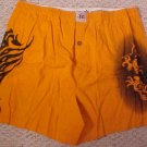 Seven Days Men Orange Print Boxers Size XL Waist 40 - 915751