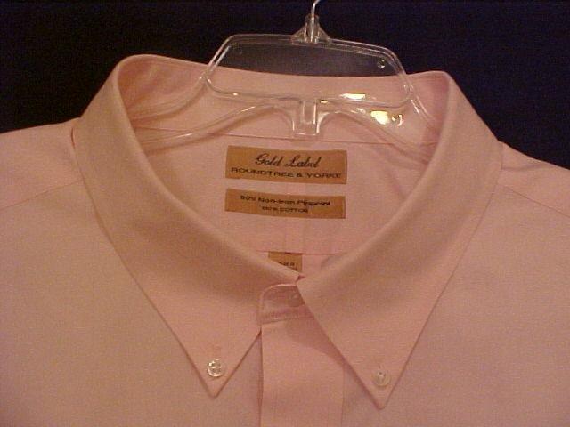 Roundtree & Yorke Gold Label Dress Shirt Long Sleeve Size 20 - 35 Big Mens Clothing 915581