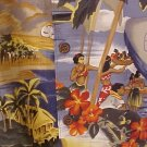 NEW Reyn Spooner Hawaiin Shirt Scenic Trans Pacific Print 4XL 4XB 4X Big Tall Mens Clothing 919341
