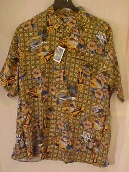 NEW Reyn Spooner Hawaiin Shirt Beach Matt Print 4XL 4XB 4X  Big Tall Mens Clothing 919531