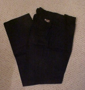 Elastic Waist Black Pant  Size 50 TALL Unhemmed  Big & Tall Mens Clothing 918731