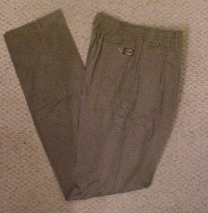 Elastic Waist Taupe Pant  Size 40 TALL Unhemmed  Big & Tall Mens Clothing 918741