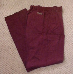 Elastic Waist Wine Pant  Size 52 TALL Unhemmed  Big & Tall Mens Clothing 918771