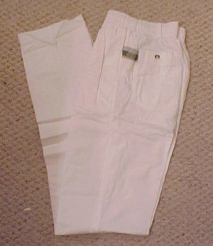 Elastic Waist White Pant  Size 36 TALL Unhemmed  Big & Tall Mens Clothing 918861