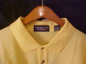 New Yellow Polo Shirt Size 3XL 3X Big Tall Mens Clothing 918451