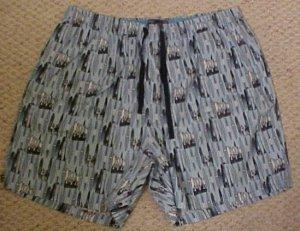 Boxers Sleepwear Surf Board Jammies Pajama PJ's Shorts Size 1X Big Tall Mens Clothing 918591