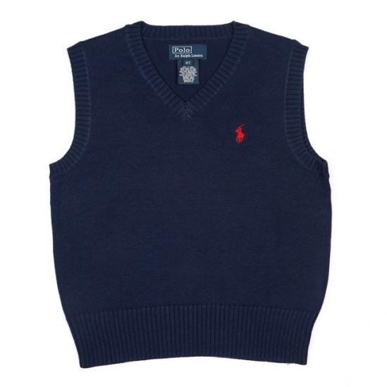Pull Over V Neck Navy Polo Ralph Lauren Sweater Vest 3XL 3X 3XB Big Tall Mens Clothing 920891 3