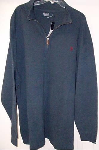 Blue Half Zip Polo Ralph Lauren Pull Over Sweater 4XT 4LT 4XLT Big Tall Mens Clothing 920971