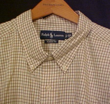 Cream Ralph Lauren Button Down Shirt Long Sleeve 4XT 4XLT 4LT Big Tall Mens Clothing 921021