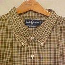 Green Plaid Ralph Lauren Button Down Shirt Long Sleeve 3X 3XL 3XB Big Tall Mens Clothing 921081 2