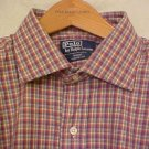 Purple Plaid Polo Ralph Lauren Button Shirt Long Sleeve XLT  Big Tall Mens Clothing 921041