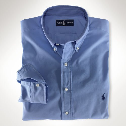 Blue Ralph Lauren Button Down Shirt Long Sleeve Size 3X 3XL 3XB Big Tall Mens Clothing 921161