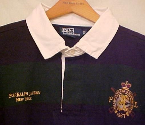 Green Blue Polo Ralph Lauren Rugby Shirt Long Sleeve Size 4X 4XL 4XB Big Tall Mens Clothing 921231