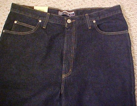 Darkwash Blue 5 Pocket Jean 54 X 32 Big & Tall Roundtree & Yorke 921451 2