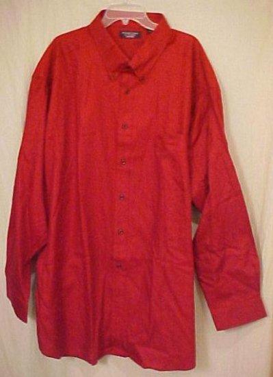Roundtree & Yorke Button Down Shirt Long Sleeve Size 5X 5XL 5XB Big Tall Mens Clothing 921481