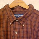 Brown Plaid Ralph Lauren Button Down Shirt Long Sleeve 3X 3XL 3XB Big Tall Mens Clothing 921471 4