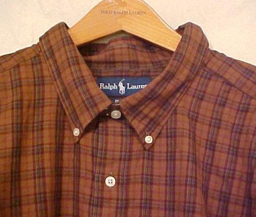 Brown Plaid Ralph Lauren Button Down Shirt Long Sleeve 3XT 3XLT 3LT Big Tall Mens Clothing 921461 4