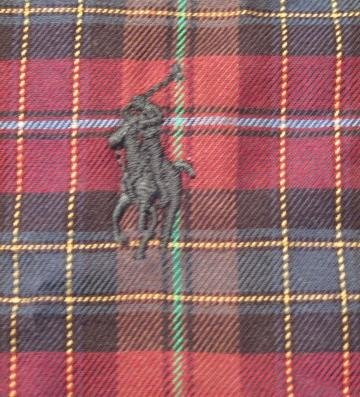 Red Plaid Ralph Lauren Button Down Shirt Long Sleeve 3X 3XL 3XB Big Tall Mens Clothing 921531 2