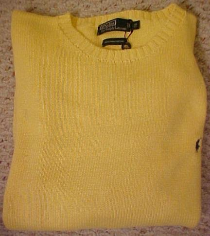 Yellow Polo Ralph Lauren Pull Over Sweater 4XB 4X 4XL Big Tall Mens Clothing 921501