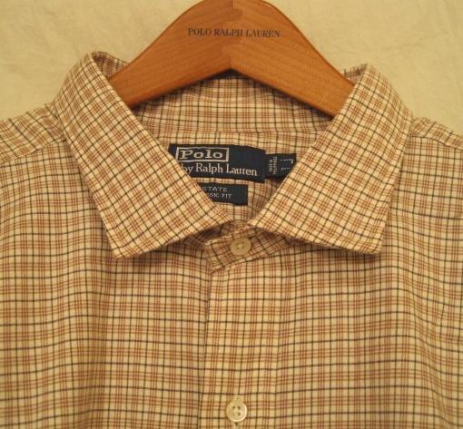 Tan Plaid Ralph Lauren Button Down Shirt Long Sleeve 3X 3XL 3XB Big Tall Mens Clothing 921751
