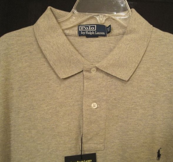 Gray Polo Ralph Lauren Golf Polo Shirt Size 3LT 3XLT 3XT Big Tall Mens Clothing 922491