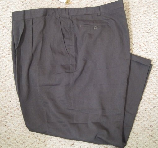 60 X 30 Gray Savane Pant Cuff Pants Big & Tall Mens Clothing 922551
