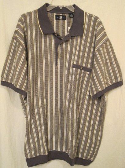 Baseball Style Polo Golf Shirt S/S Size 3XL 3X 3XB Big Men's Clothing 922721