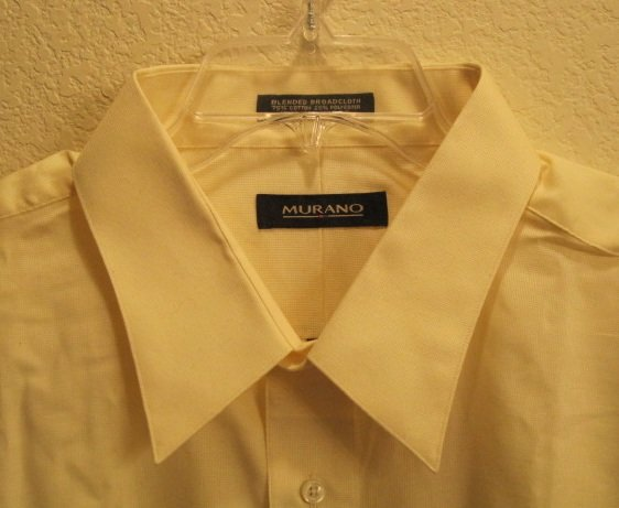 New Murano Button Down Shirt 19 - 36 Tall Men Clothing 922861